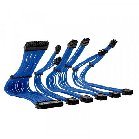 Yeyian PSU Cable Extension  Kabel Series 1000 Azul. Modelo: KS1000A