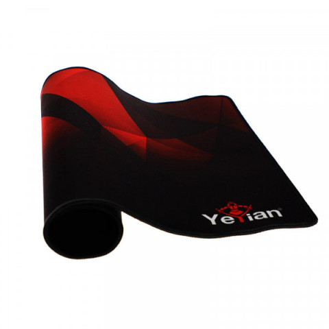 Mouse pad gaming Yeyian krieg 1050, 50x36cm, 3mm, negro/rojo (yss-mp1050n)